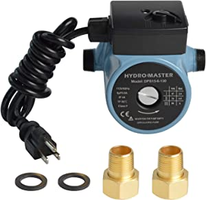 """Hydro Master 3/4"""" NPT Hot Water Circulator Pump with 3-Speed Control for Water Heater System (US standard Plug Included)"""