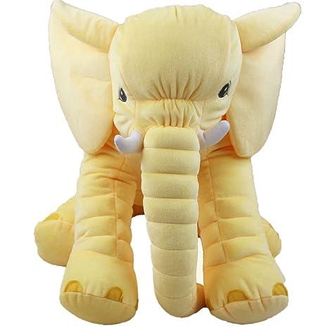 ABIA Almohada de Felpa de Elefante Cojín de Almohada para Dormir para bebés Muñecas y Juguetes de Animales Regalo para niños