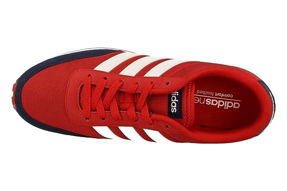 adidas V Racer, Zapatillas para Hombre, Rojo (Escarlftwbla