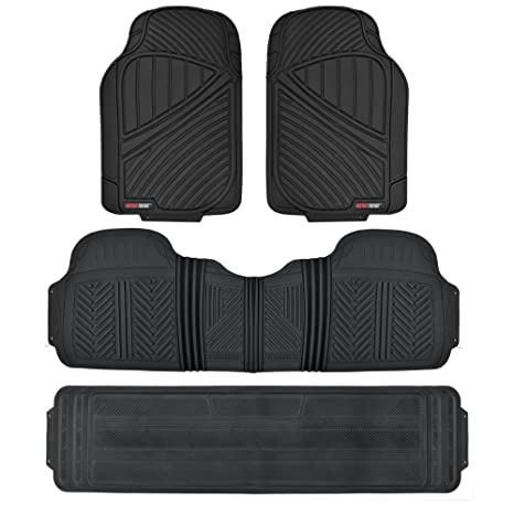 Suv Floor Mats >> Amazon Com Motor Trend Mt 773 801 Bk 3 Rows Flextough Series Rubber