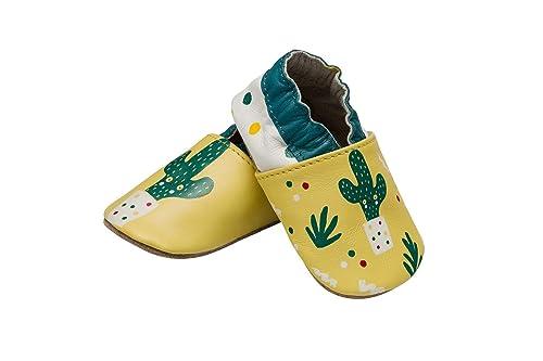 club4brands - Zapatos de bebé con Suela de Ante Antideslizantes, Botines para bebés, niñas