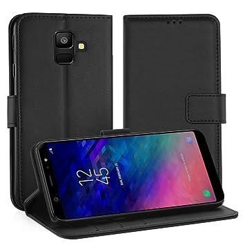 Simpeak Funda Compatible Samsung Galaxy A6 2018 (5,6 Pulgadas), Carcasa Samsung A6 2018 Fundas Cuero Galaxy A6 2018 Soporte Plegable/Ranuras para ...