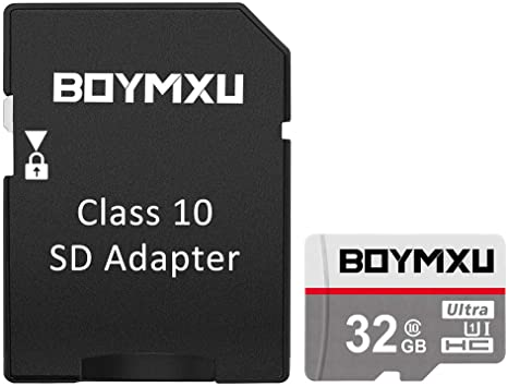 TF Memory Card 32GB,BOYMXU Sd Memory Card 32gb UHS-I Card with Adapter High Speed Tf Card Update-Gray.
