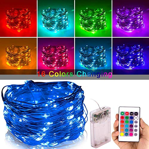 xinkaite Fairy LED Lights Waterproof String Lights Lighting Kit 80 LEDs Twinkle Lights 26Ft String Light for Garden Home Party Wedding Festival Bedroom Indoor Outdoor Patio Decor with Remote Control