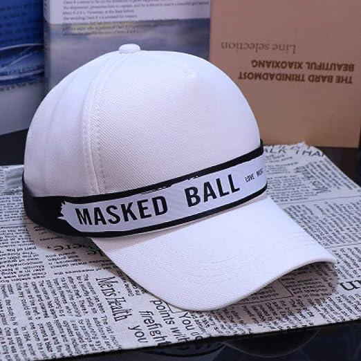 Lona Gorra de béisbol Parejas Wild Patch Caps Letras Gorras Blanco ...
