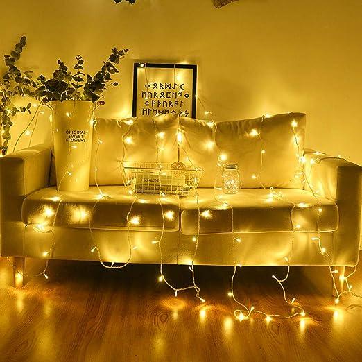 Cadena de luces LED de 4 metros, 40 LED, 220 V, decoración para bodas, guirnaldas, guirnaldas, guirnaldas de luces LED, guirnaldas para árbol de Navidad, decoración para fiestas: Amazon.es: Iluminación