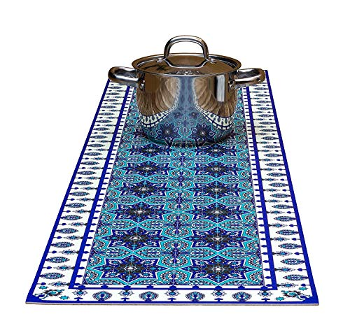 Eastern Star Decorative Trivet and Kitchen Table Runners Handles Heat Up to 365F, Anti Slip, Hand Washable and Convenient for Hot Dishes and Pots ()