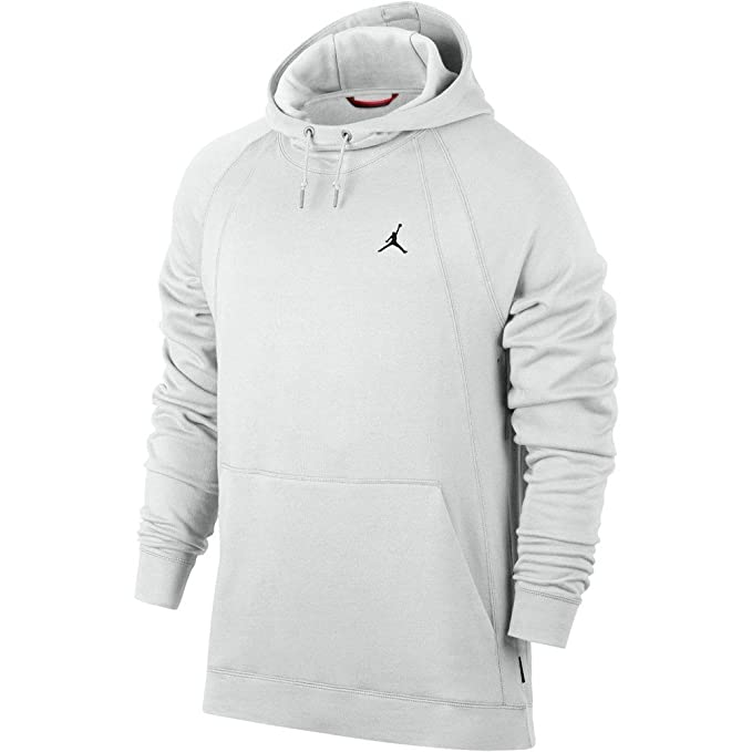Jordan Sudadera Capucha Sportswear Wings Fleece Pullover Blanco/Negro Talla: S (Small)