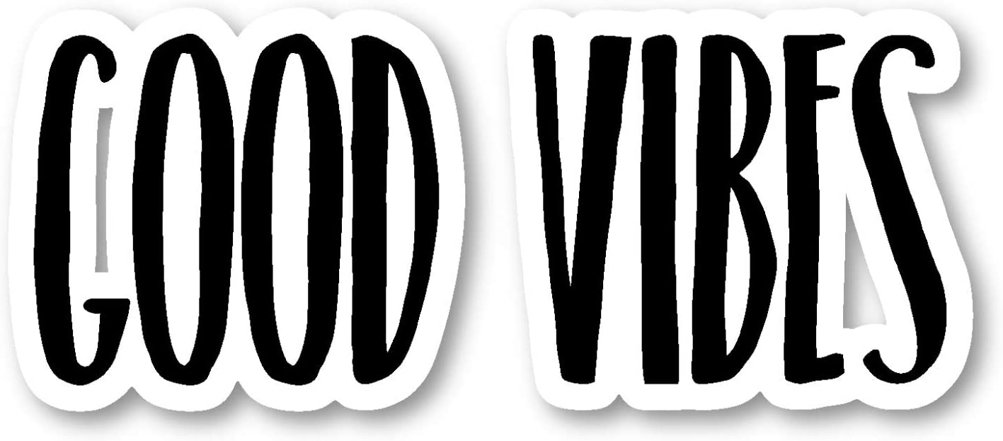 "Good Vibes Sticker Inspirational Quotes Motivation Stickers - Laptop Stickers - 2.5"" Vinyl Decal - Laptop, Phone, Tablet Vinyl Decal Sticker S183238"