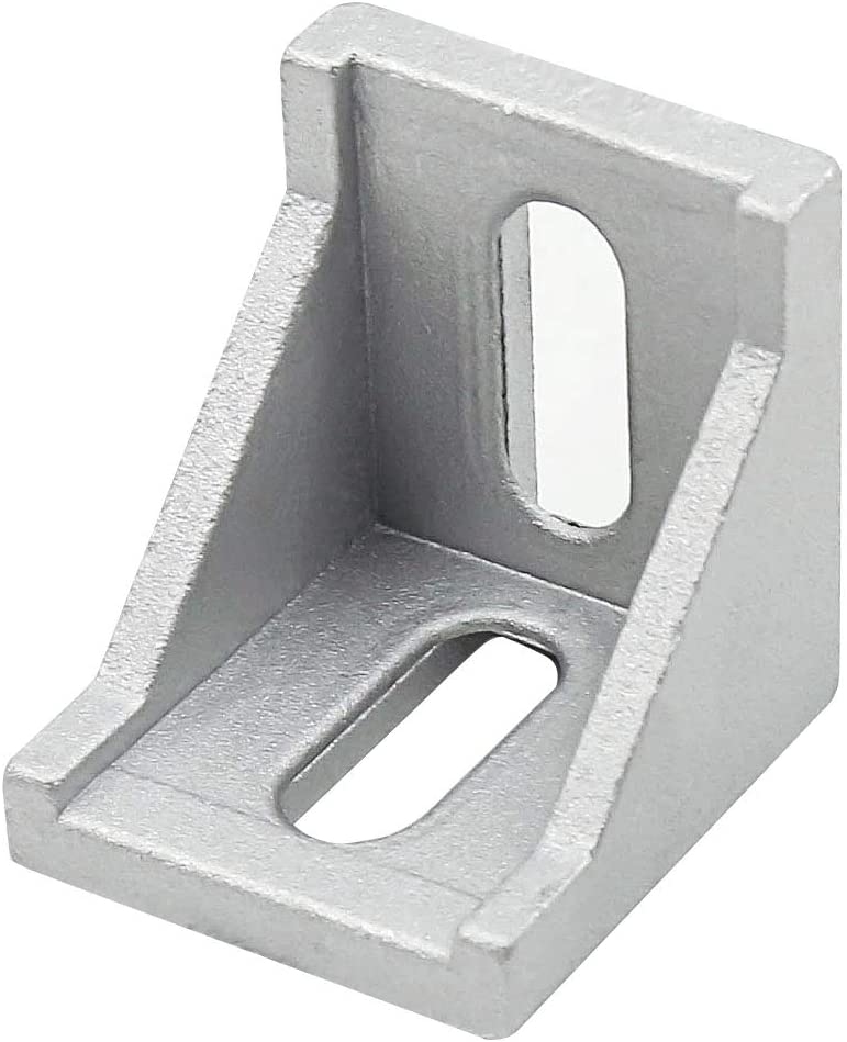 HONJIE 4040 Inside Corner Bracket Gusset for 4040 Aluminum Extrusion Profile 40x40x35mm with Slot 8mm-5PCS