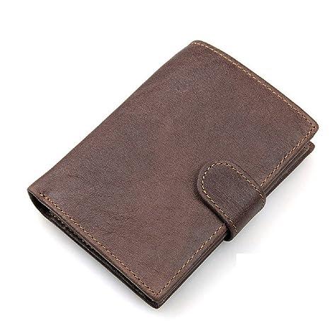 UK-aphison - Cartera para hombre hombre marrón marrón small