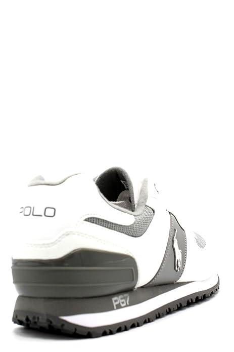 5238e7851 POLO RALPH LAUREN PONY Slaton NEWPORT chaussures de la marine homme baskets  en cuir
