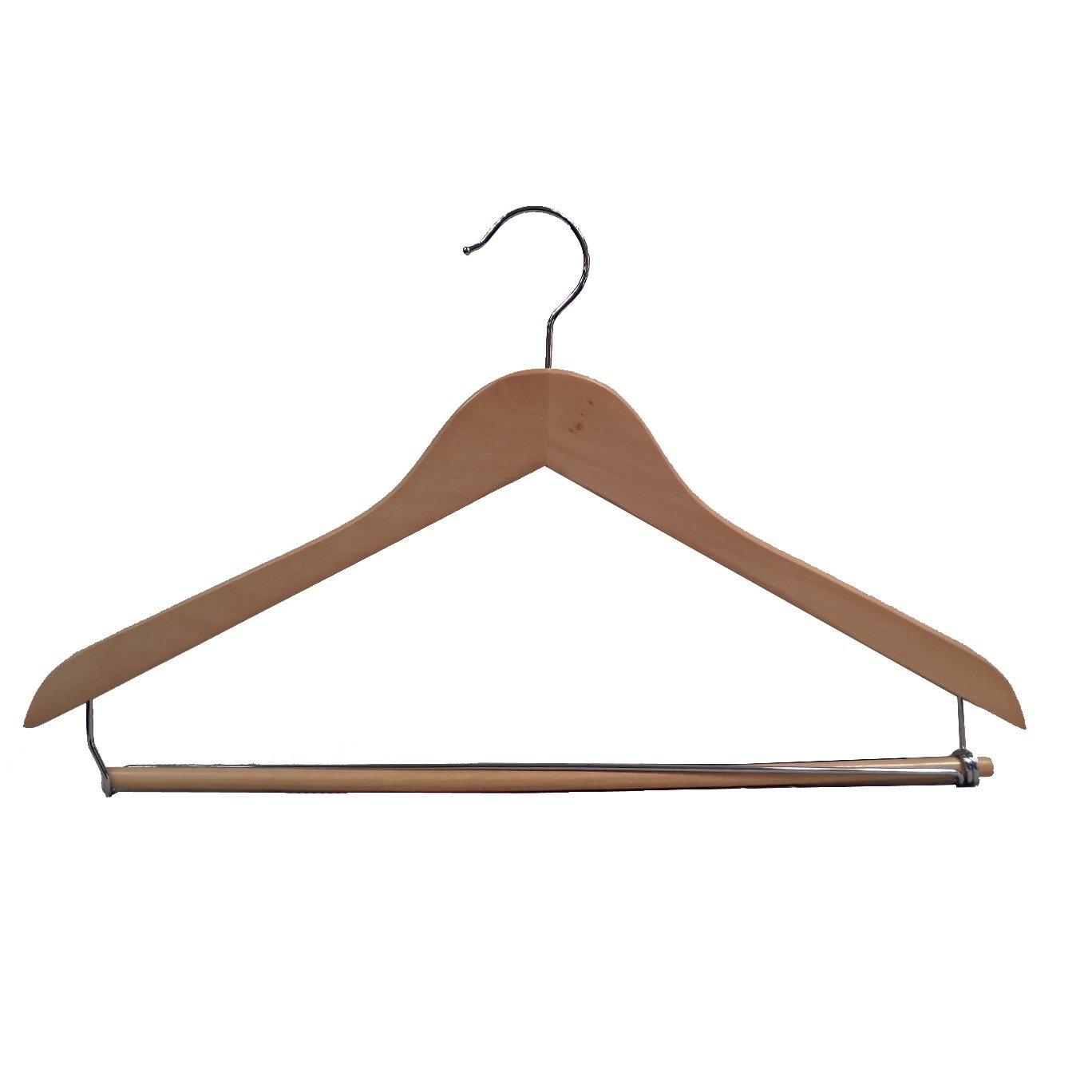 Proman Products GNC8815 Wooden Suit Hanger Wood, Light Walnut