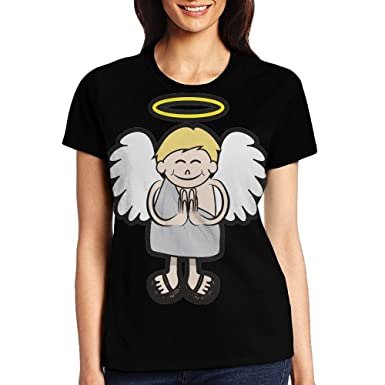 Quzim Smiling Baby Angel With Halo Namaste Jersey Baseball Tee T Shirts For  Women Tshirt ed8795e198