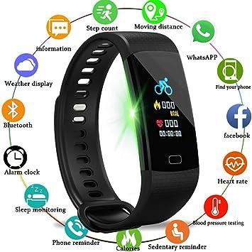 KDSFJIKUYB Fitness Tracker Reloj inteligente Mujer Hombre Deporte Reloj Correr Escalada Montura Podómetro multifunción Monitor de