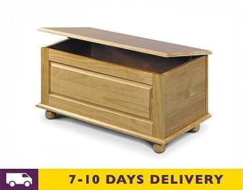 Julian Bowen Pickwick Blanket Box Ottoman Storage Box In Solid