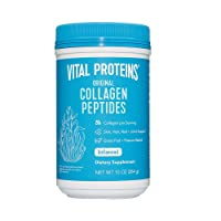Vital Proteins Collagen Peptides Powder Supplement (Type I, III) for Skin Hair Nail Joint - Hydrolyzed Collagen - Dairy and Gluten Free - 20g per Serving - Unflavored 10 oz Canister