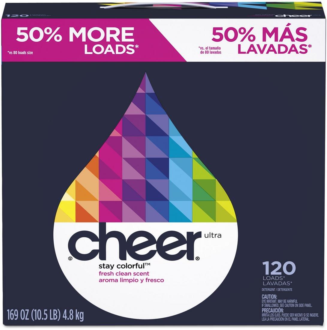 Cheer CHEER 169 oz. Box Fresh Laundry Detergent, 2 Pack