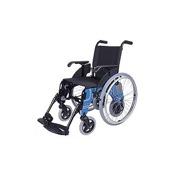 Forta fabricaciones - Silla de aluminio con ruedas interiores FORTA Basic Duo - 44 cm, Basic Azul: Amazon.es: Salud y cuidado personal