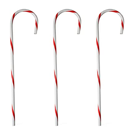 amazon com 32 large hollow plastic candy cane christmas