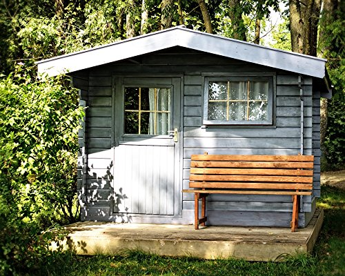 Home Comforts Acrylic Face Mounted Prints Log Cabin Garden Garden Shed Hut Leisure Recovery Print 14 x 11. Worry Free Wall Installation - Shadow Mount is Included.
