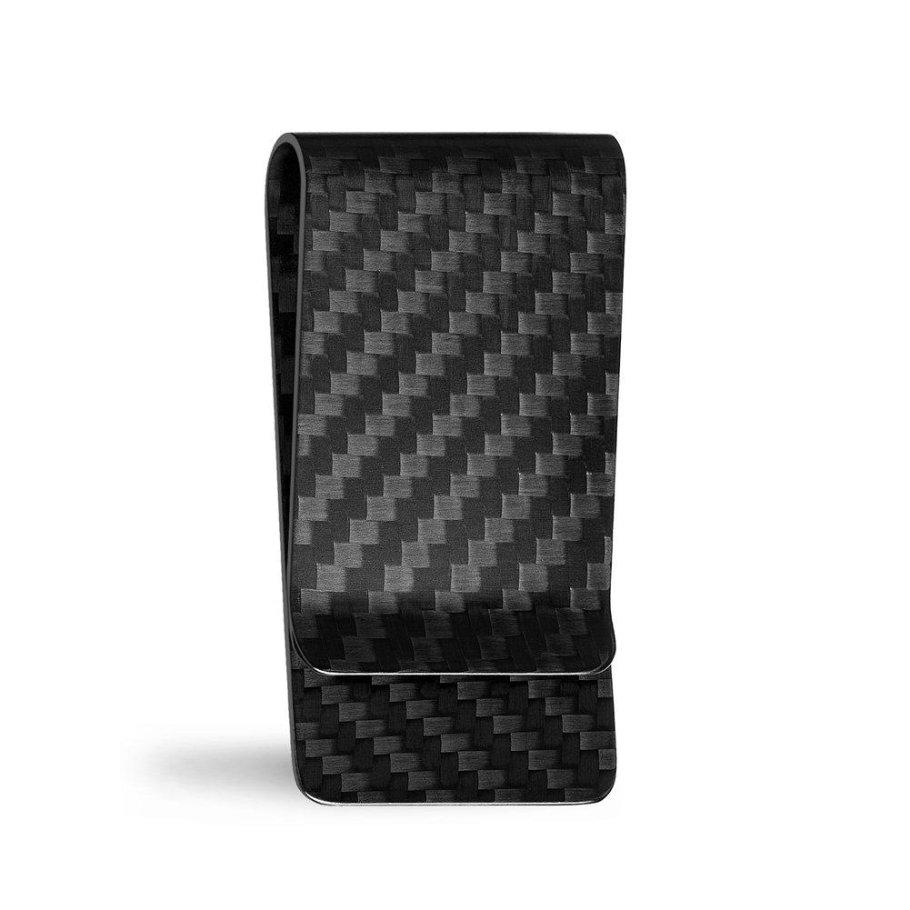 Carbon Fiber Money Clip NUBARKO Slim Business Credit Card Holder Minimalist Wallet for Men