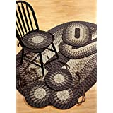 Better Trends Alpine 7-Piece Braided Rugs Set, 50 by 80-Inch, Chocolate