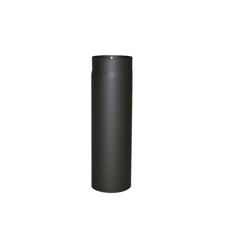 Kamino - Flam – Tubo para chimenea y estufa de leña, Tubo vitrificado – acero resistente a altas temperaturas – Negro, Ø 120 mm/longitud 500 mm Kamino Flam 331701