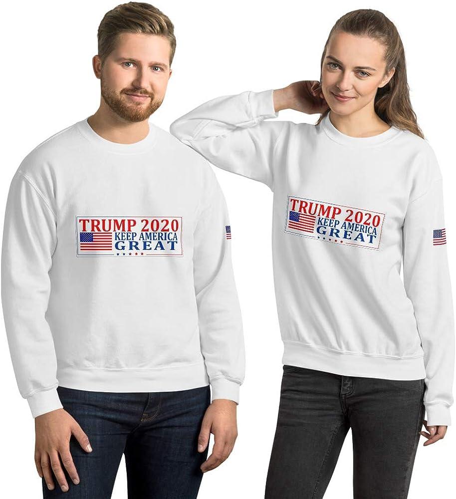 Trump 2020 Keep America Great Hoodie White