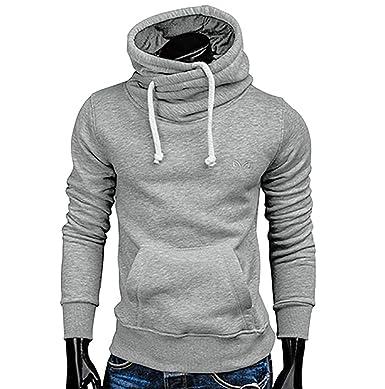 LONUPAZZ Sweat-Shirt Hommes Imprimé Hiver Slim Casual Sweat à Capuche Chaud  Pull Hauts  Amazon.fr  Vêtements et accessoires 5e0c7d4caf9