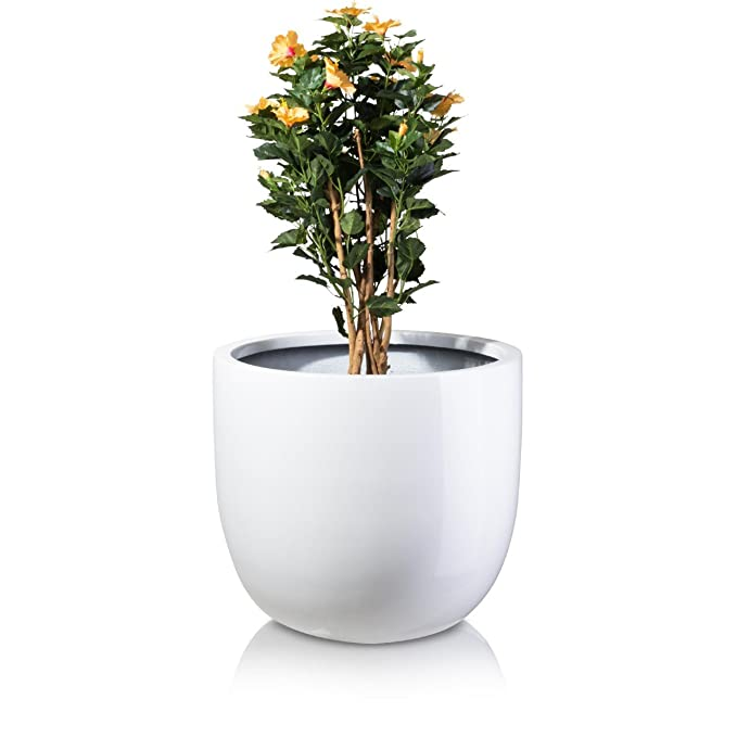 Pflanzkübel Blumenkübel BOTTAS 61 Fiberglas, 70x70x61 cm, weiß ...