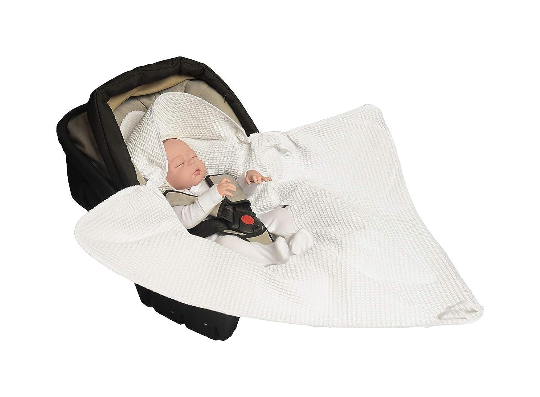 da waffel Pique 100/% cotone MoMika Coperta universale per ovetto seggiolino auto per passeggino Buggy o lettino Sacchi termici