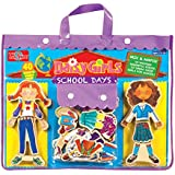 T. S. Shure Daisy Girls School Days Wooden Magnetic Dress-Up Dolls