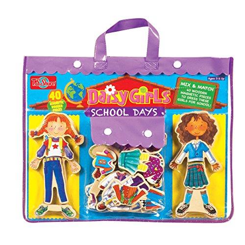 (T. S. Shure Daisy Girls School Days Wooden Magnetic Dress-Up Dolls )