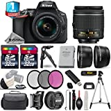 Holiday Saving Bundle for D5600 DSLR Camera + 18-55mm VR Lens + 0.43X Wide Angle Lens + 2.2x Telephoto Lens + 2 Of 32GB Class 10 Memory Card + UV-CPL-FLD Filters - International Version