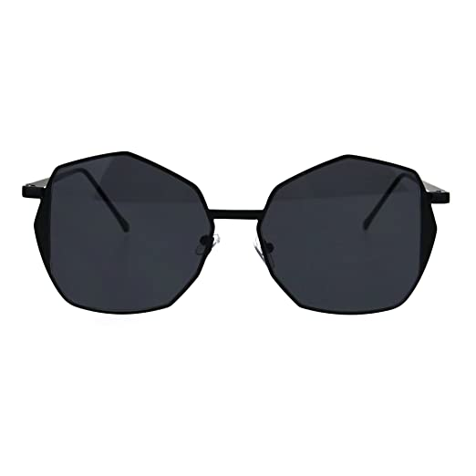 6c5397acf5fa Womens Gradient Octagon Retro Hippie Butterfly Fashion Sunglasses All Black