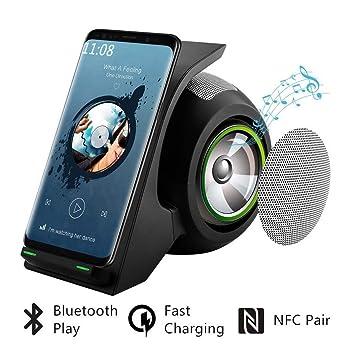 Cargador inalámbrico rápido con Mic Altavoz Bluetooth 15W ...