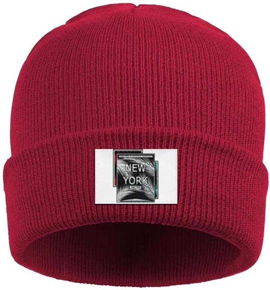 Mens Slouchy Beanie Hat Toboggan Hats New York Fashion Art Multifunction Cap