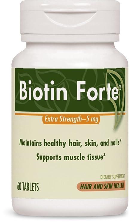 Biotina Forte, Extra Strength, 5 mg, 60 comprimidos - terapia enzim_tica
