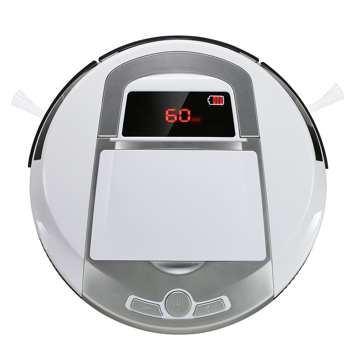 Robotic Vacuum Cleaner, Rechargeable Robotic Vacuum with Strong Suction and HEPA Double Filter, Anti-Cliff and Anti-Bump Sensor Robot for Pet Hair, Fur, Allergens, Thin Carpet, Hardwood and Tile Floor by FORTUNE DRAGON (Image #1)