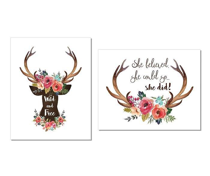 The Best Floral Deer Antler Decor