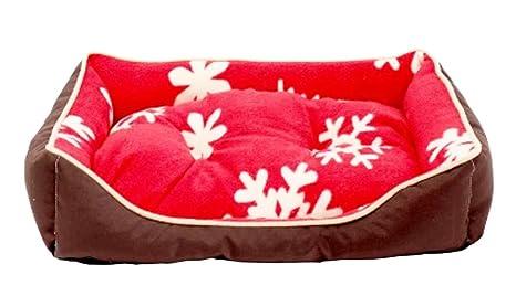Fashion cama para mascotas lavable nido mascota gato perro cama casa s – rojo