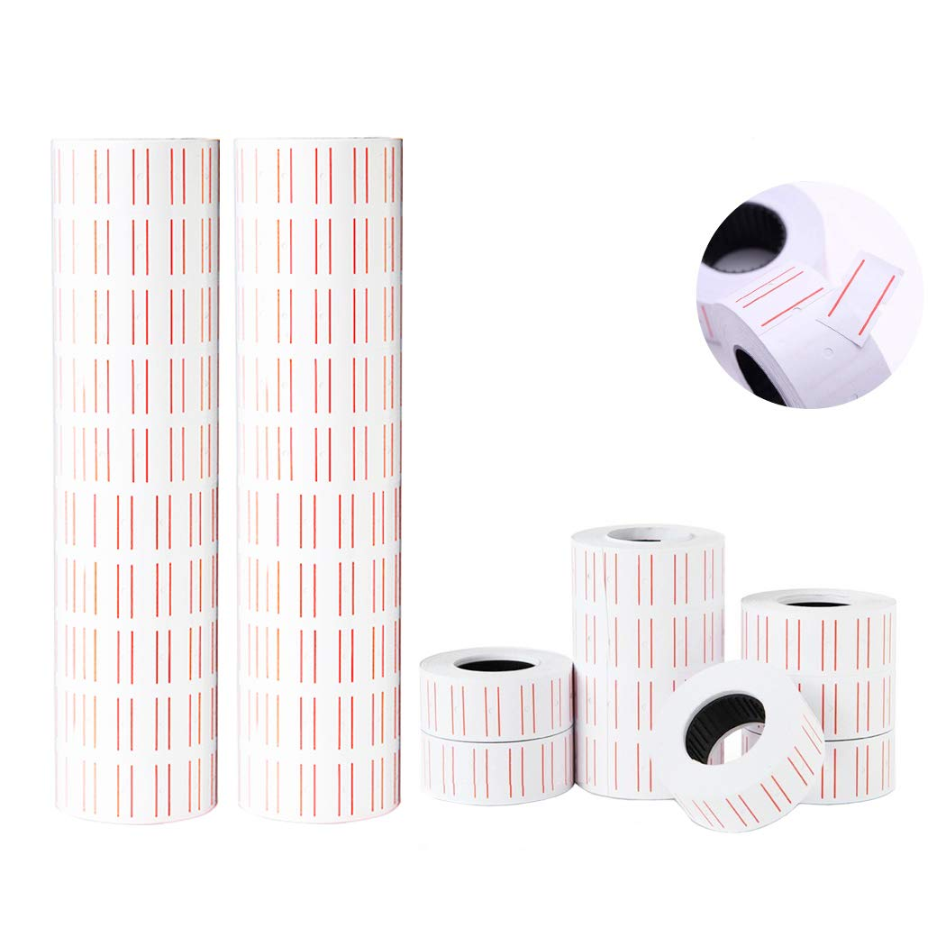 Hatisan 30 Rolls 15000 Pieces of Label Paper for Mx-5500 Price Gun Labeller, Super Sticky Tag Labels (30 Rolls 15000 Labels) by hatisan