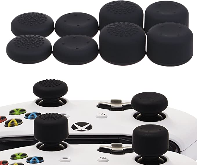 YoRHa Profesional Thumb Grips Thumbstick de los pulgares Cubierta del joystick (negro) Extra alto 8 Unidades Paquete Para Xbox One, Xbox One X, Xbox One S, Switch PRO Controller Mando: Amazon.es: Videojuegos