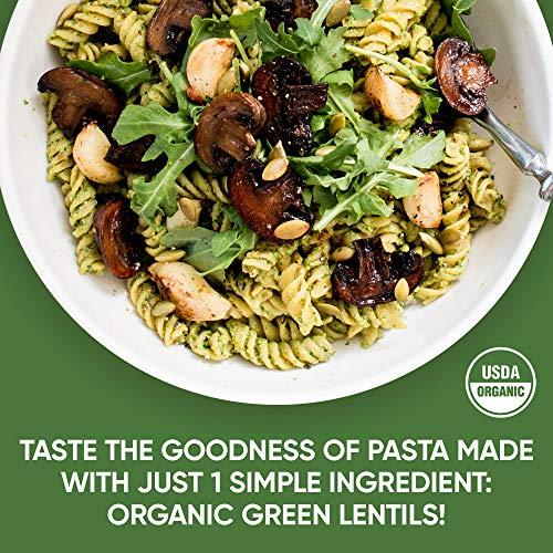 Tolerant Organic Green Lentil Rotini Pasta, 8oz Box (Case of 6), Plant-Based Protein, Vegan Pasta, Single Ingredient Protein Pasta, Gluten-Free Pasta, Clean Pasta, Low Glycemic Index Pasta 3