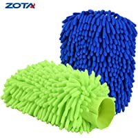 Zota 2-Pack Extra Large Size Microfiber Double Sided/High Density Chenille Scratch-Free Waterless Wash Mitt
