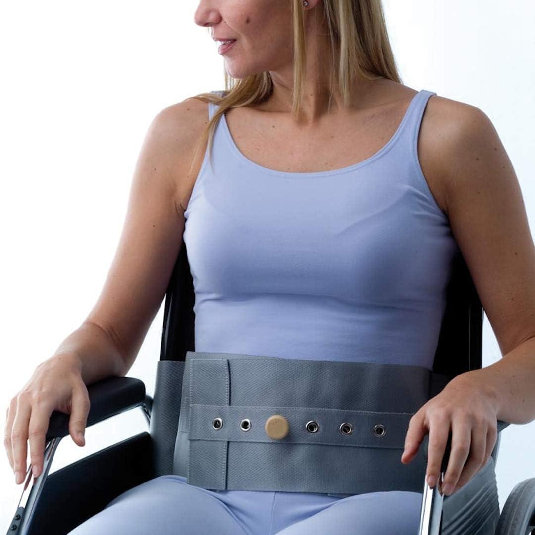 Adiggy Medical | Cinturón abdominal para Silla de Ruedas | Sistema de ajuste y cierre con hebillas que permite rápida colocación (Talla M)