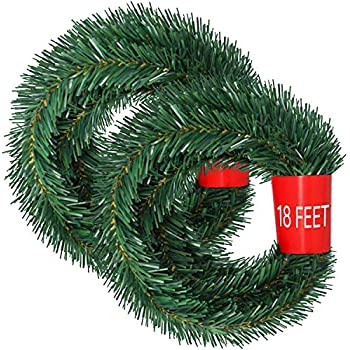 Amazon Com 50 Foot Non Lit Green Holiday Soft Garland Home Kitchen