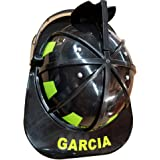 Aeromax Personalized Firefighter Helmets (Black with Visor)