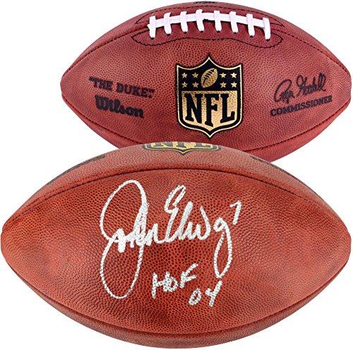 John Elway Denver Broncos Autographed Pro Football with HOF 2004 Inscription - Fanatics Authentic ()